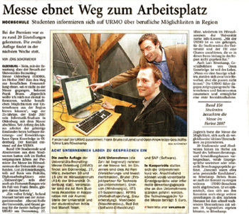 Image of the newspaper article about me